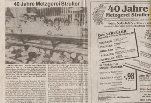 Metzgerei Struller, 1986