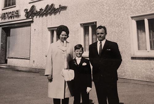 Metzgerei Struller, 1955