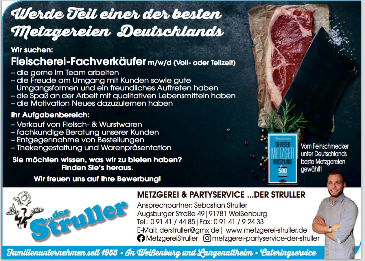Fleischerei-Fachverkäufer/-in (m/w/d)